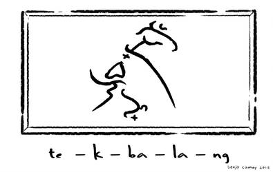Tikbalang written in Baybayin by The-Hand