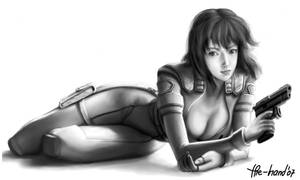 Motoko underpainting by The-Hand