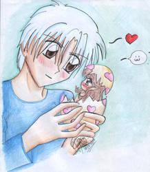 Chiaki and baby maron by nwfan13