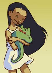 crocodilecat... dragon? by reginade