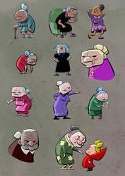 11 Evil Grandmas by reginade
