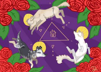 Holy Doggo Trinity by Hippie30199