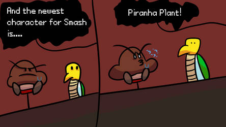 Piranha Plant in Smash (comic) by TophatGeo