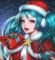 Hatsune Miku (Christmas!) by renaillusion