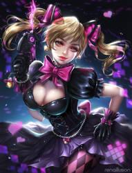 D.Va black cat (Overwatch) + SPEEDPAINT by renaillusion