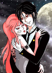 Black Butler and Zara under the snow by Giappi76