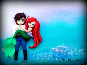 Eric and Ariel little mermaid by BrucaliffoBijoux