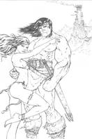 Conan the Barbarian pencils by warballoon