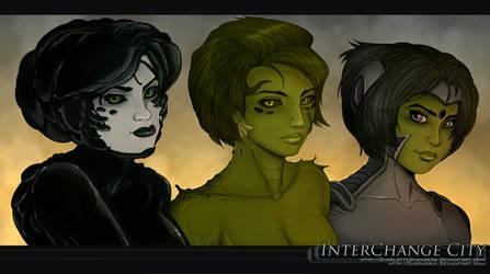 Interchange City: Murk, Maryl, and Zoel by Chronorin