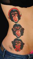 three apes by Robert-Franke