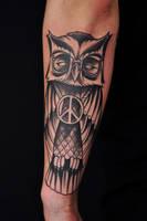 peace owl by Robert-Franke