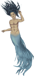 Trajan (crowntail merman) by LieutenantSheesha