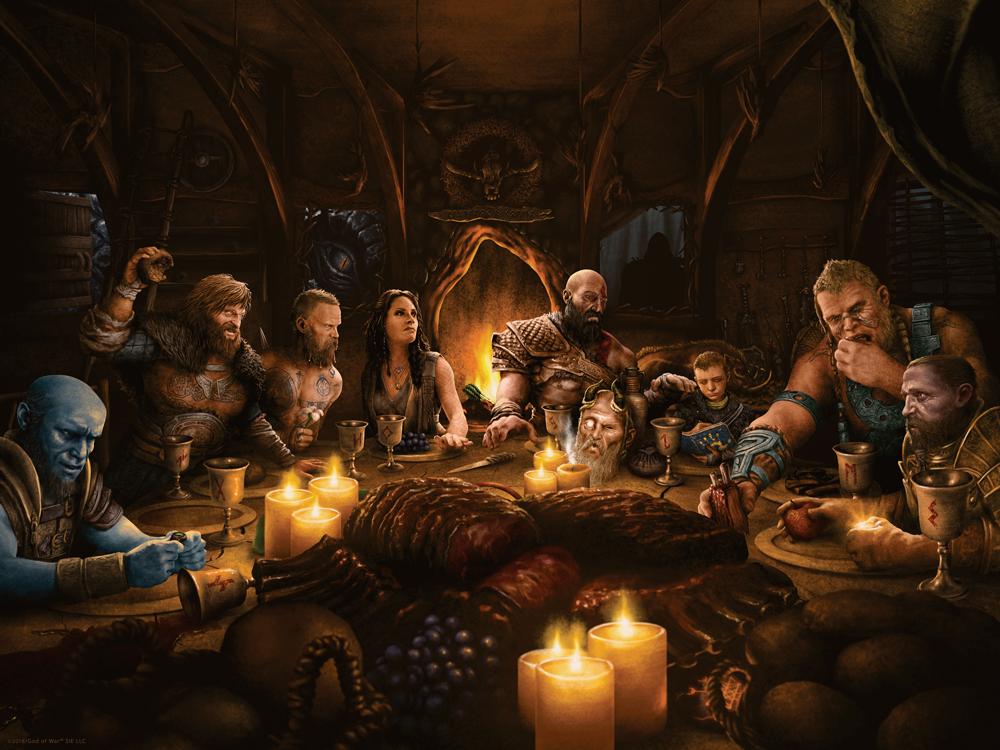 God of War - Freya's Dinner by adamrabalais