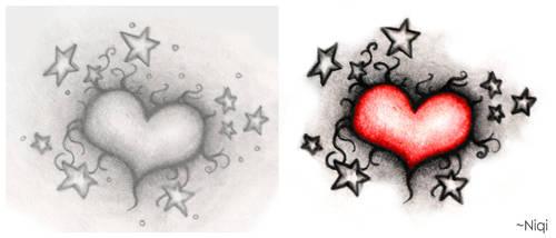 Tattoo Heart by NiqiNasomi