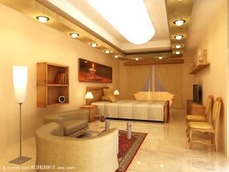 BEDROOM INTERIOR by hasanaliakhtar