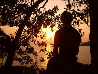 Beautiful evening in Goa by Swebilius