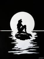The Little Mermaid Ariel silhouette by jiyeong96