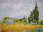 Wheatfield and Cypresses by tinta-para-lapis