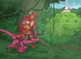 Lizardfolk Beast Master by Phi8