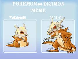 Digimon Cubone by LuckyNeko13