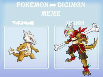 Digimon Marowak by LuckyNeko13