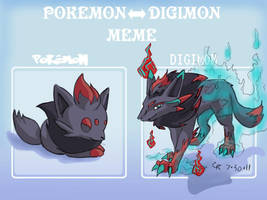 Digimon Zoroa by LuckyNeko13