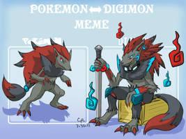 Digimon Zoroark by LuckyNeko13