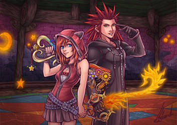Duo magique - Kairi/Axel | Kingdom Hearts III by ChronosLS