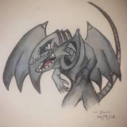 Blue Eyes Toon Dragon by guineapiggin