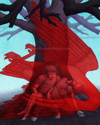 Illustration Scarlet Ibis by digital-blood