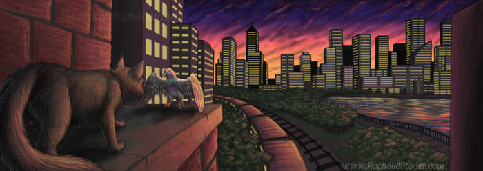 showdown in the city by digital-blood