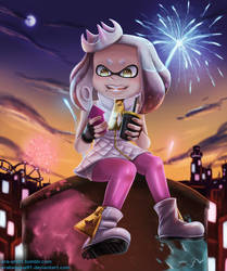 Pearl at Splatfest - Splatoon 2 by Arabesque91