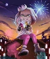 Pearl at Splatfest - Splatoon 2 by Arabesque91