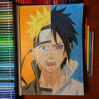 Naruto vs. Sasuke!  by ThomasArt98