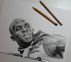 New drawing!! Usain Bolt  by ThomasArt98