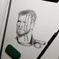 Sketch of Thor  by ThomasArt98