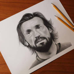 Drawing of Andrea Pirlo  by ThomasArt98