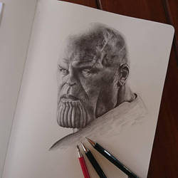 Thanos, the Mad Titan, from the new Avengers: Infi by ThomasArt98