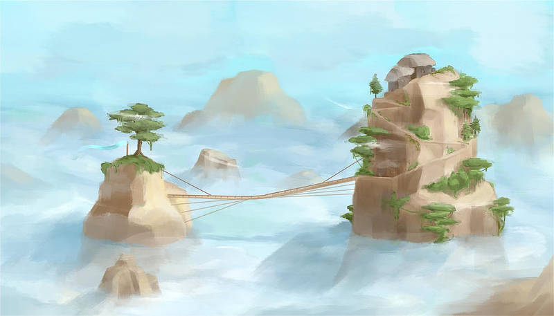 Life in the sky (painting practice) by valoofx