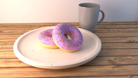 Donut in Blender by UtkarshPatel13