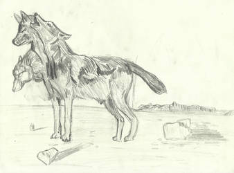 Cerberus the three-headed dog (2017 sketch) by AnimationAndDrawings