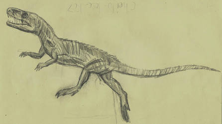 Prehistoric animals: Euparkeria (2017) by AnimationAndDrawings