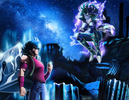 Saint Seiya - Seiya VS Shaina - Final by Iso-pI