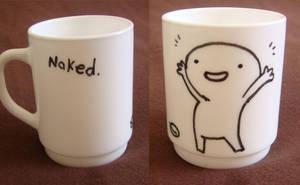 'naked' mug by bwaisohf