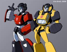 Sideswipe and Sunstreaker by KrisSmithDW