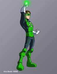 Commission-MkvDC Green Lantern by KrisSmithDW