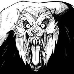 Drawlloween Inktober Day 05 - Werewolf by KrisSmithDW