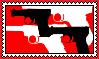 Kids With Guns stamp (F2U) by Luna-The-Fennec