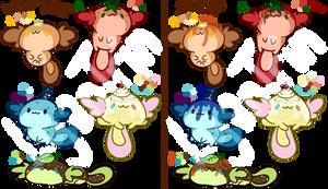 Pancake Axolotl Adopts (CLOSED) by LycanTrin