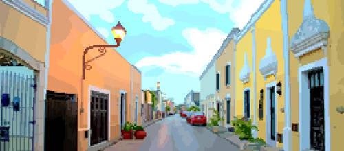 Sisal street Valladolid Yucatan Pixel by Jarquin10
